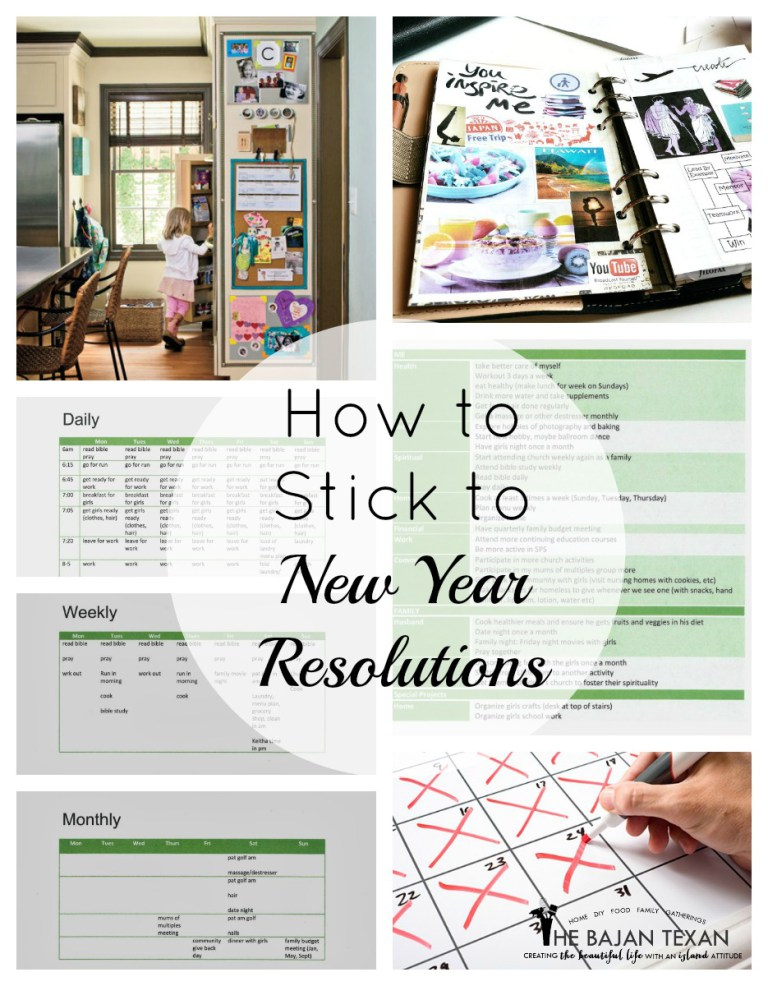 how to stick to new year resolutions