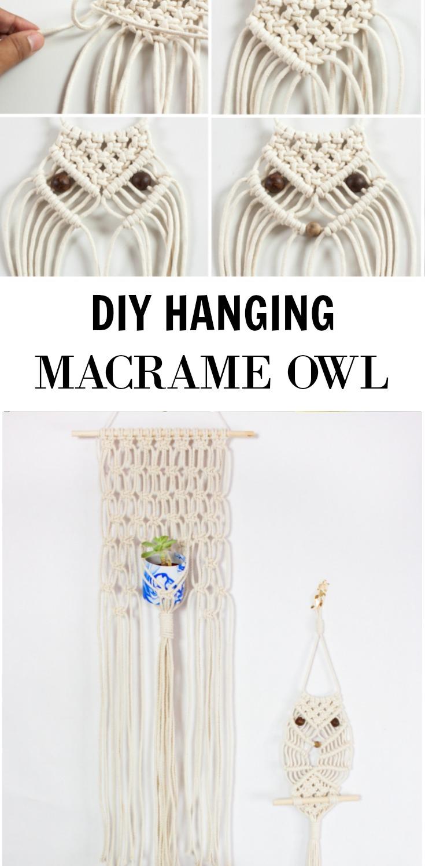 DIY Hanging Macrame Owl – The Bajan Texan